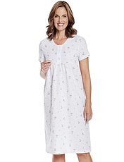 Woven Floral Short Sleeve Nightdress