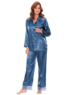 Luxury Satin And Lace Pyjama