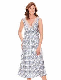 Luxury Satin Print Nightdress