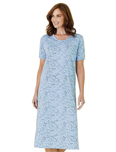 Pack of 3 Short Sleeve Print Nightdresses