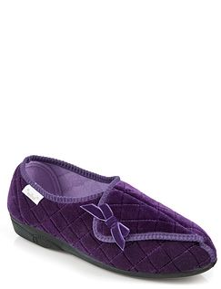 Dr Keller Touch and Close Luxury Quilted Slipper