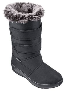 Ladies Cushion Walk Side Zip Fastening Thermal Lined Boot
