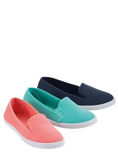 Slip On Canvas Pump
