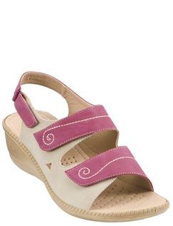Cushion Walk Touch Fasten Wide Opening Sandal