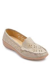 Cut Out Moccasin Shoe