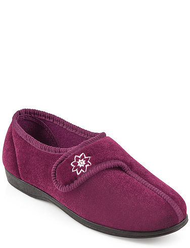 Ladies Washable Touch Fastening Slipper