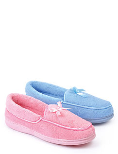 Ladies Washable Twin Pack Slippers