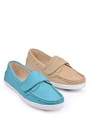 Leather Lined Easy Fit Slip On Boat Shoe