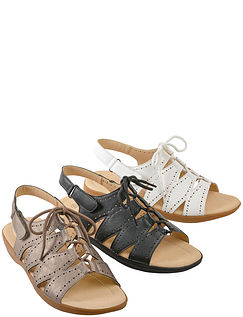 Fully Opening Lace Sandal
