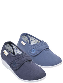 Dr Keller Touch Fasten Canvas Comfort Shoe