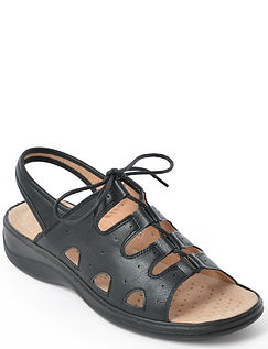 Lace Up Cushion Walk Adjustable Sandal