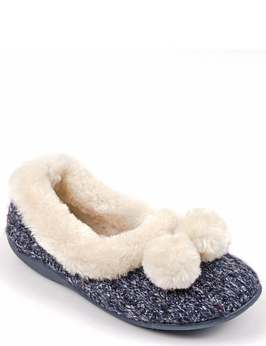 Dunlop Thermal Lined Pom Pom  Slipper