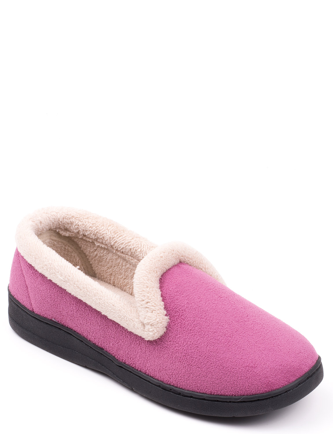 4057d02ec26f Velour Fleece Lined Slippers. Tap to expand
