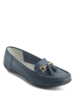 Wide Fit Ladies Leather Loafer