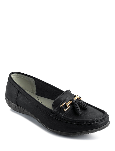 Nautical Wide Fit Leather Loafer