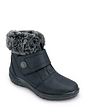 Cushion Walk Tab Button Fastening Snow Boot