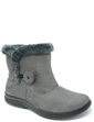 Faux Suede Button and Zip Boot with Thermal Lining