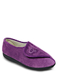 Touch and Close Velour Slipper