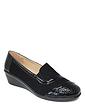 Ladies Patent Detail Shoe