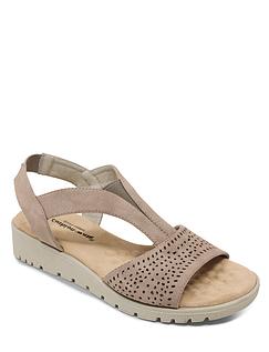 Ladies Cushion Walk Massage Footbed Sandal