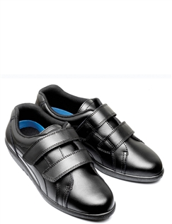 Freestep Washable Leather Touch And Close Leisure Shoe