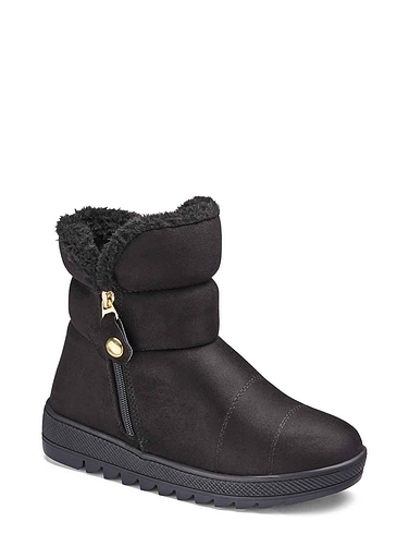 Faux Suede Thermal Lined Zip Boot