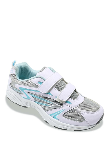 Ladies Wide Fit Touch And Close Trainer