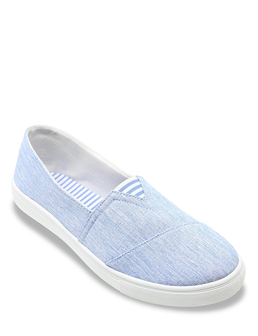 Ladies Stripe Canvas Shoe
