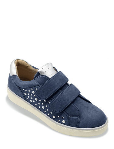 Dr Keller Wide Fit Pearl Trim Leisure Shoe