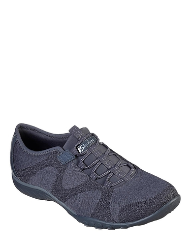 Ladies Skechers Wide Fit  Breathe-Easy Bungee Shoe