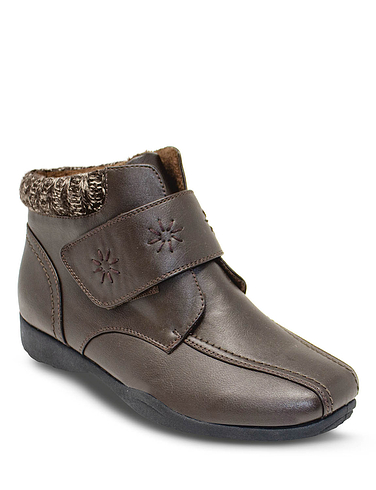 Dr Keller Wide Fit Embroidered Boot
