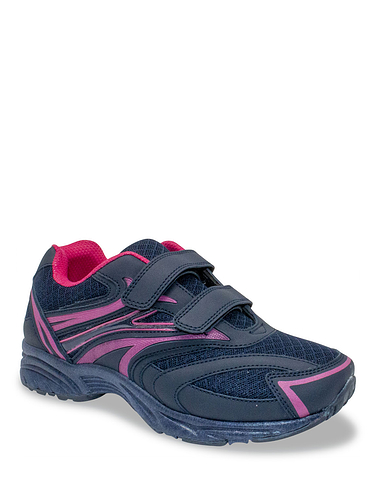 Ladies Wide Fit Touch Fastening Trainer