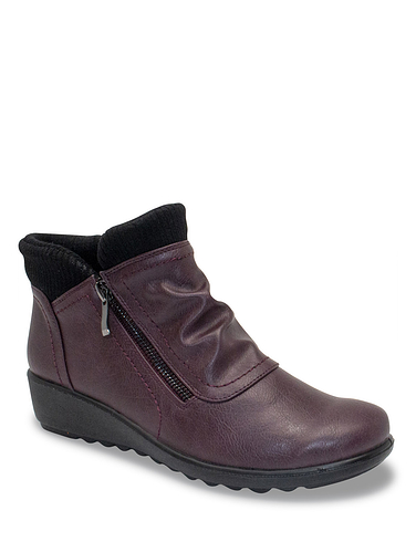 Ladies Cushion Walk Knit Collar Boot