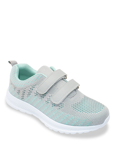 Touch Close Wide Fit Lightweight Mesh Leisure Shoe