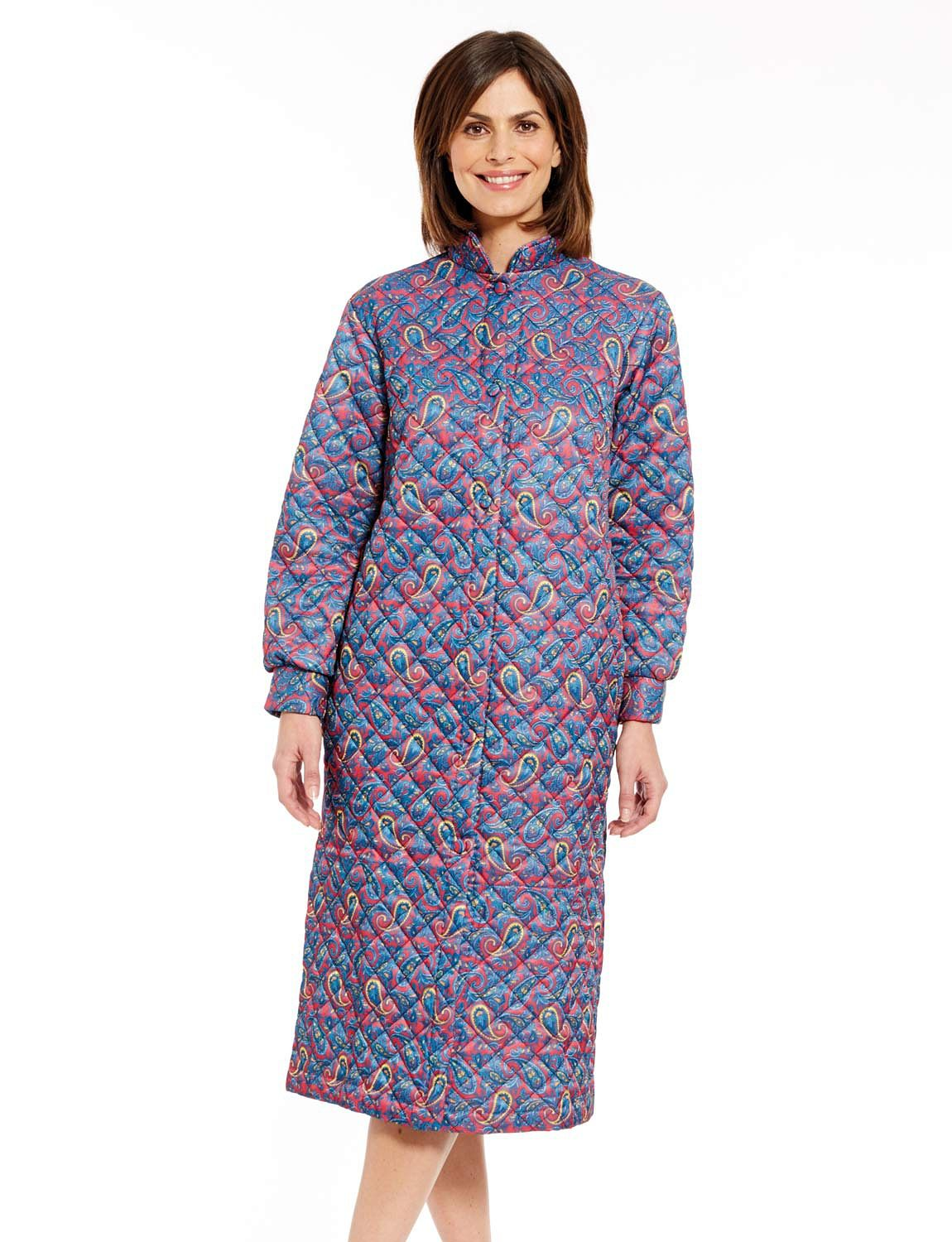Quilted Housecoat - Ladieswear Housecoats