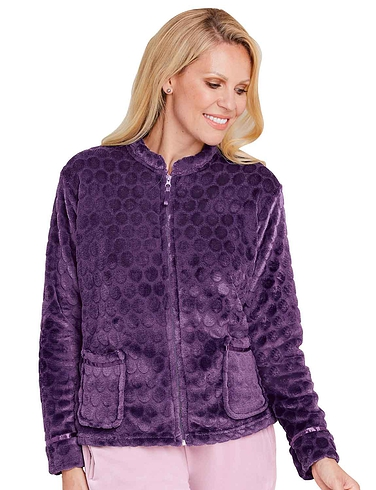 Short Zip Fleece Bed Jacket