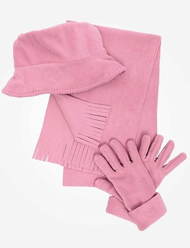 Fleece Hat Scarf & Glove Set