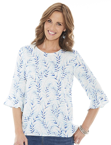 Viscose Fluted Sleeve Blouse