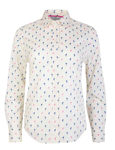 Doubel Two Flamingo Print Shirt