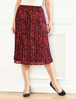 Knife Pleat Skirt 25 Inches