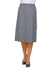 Inverted Pleat Skirt Length 25