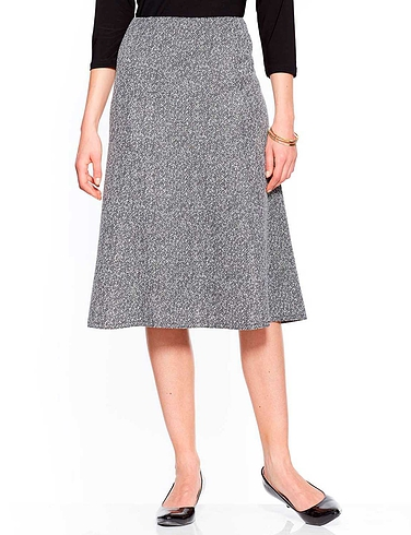 Ladies Tweed Effect Skirt 25 Inches