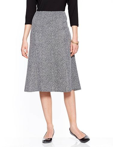 Tweed Effect Skirt (length 27 inches)
