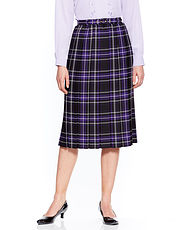Box Pleat Skirt Length 27 Inches