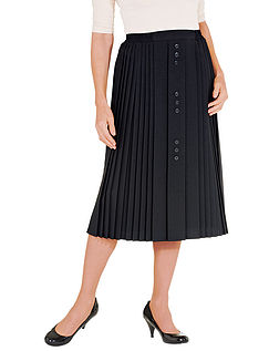 27 Inch Button Front Skirt