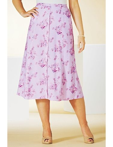 LADIES MOCK BUTTON FRONT SKIRT 27 INCHES