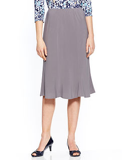 27 Inch Jersey Panelled Skirt
