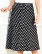Black Check Skirt With Belt