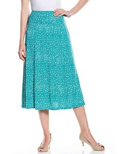 Spot Print Skirt - Length 27 Inch