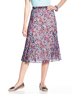 Crinkle Skirt Lilac Print